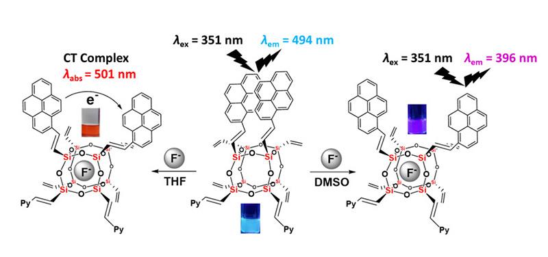 ภาพโครงสร้างทางเคมีแสดงให้เห็นการทำปฏิกิริยา