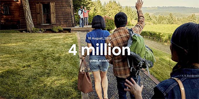 Airbnb ทุบสถิติผู้เข้าพักทั่วโลกทะลุ 4 ล้านคนภายในคืนเดียว