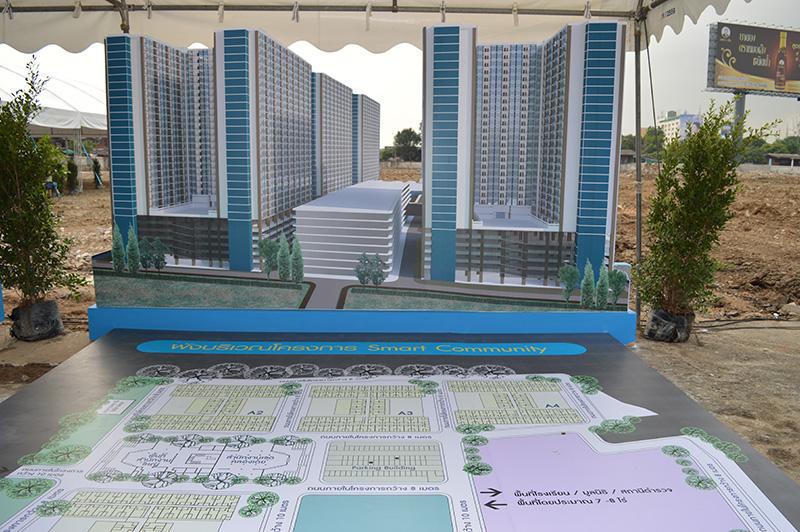 ผังบริเวณโครงการพัฒนาพื้นที่เพื่อการอยู่อาศัยในชุมชนคลองเตย
