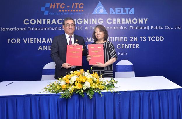 เดลต้าเซ็นสัญญากับ HTC-ITC ติดตั้งกรีนดาต้าเซ็นเตอร์ มาตรฐาน Uptime 2N Tier 3 เป็นครั้งแรกในเวียดนาม