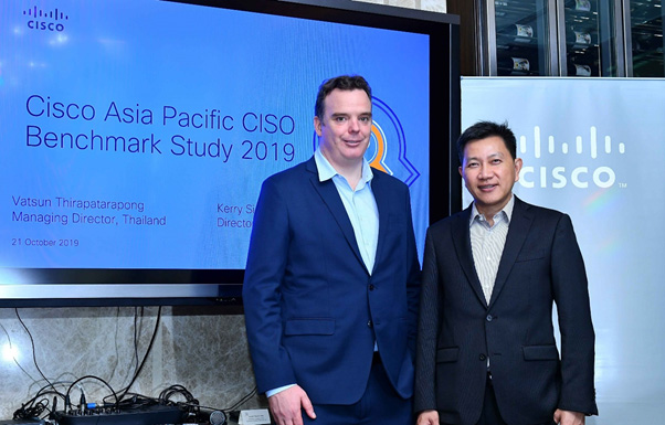 """ซิสโก้เผยผลการศึกษา """"Cisco Asia Pacific CISO Benchmark Study 2019"""" พบไทยประสบปัญหา Cybersecurity เป็นอันดับ 2 รองจากญี่ปุ่น"""