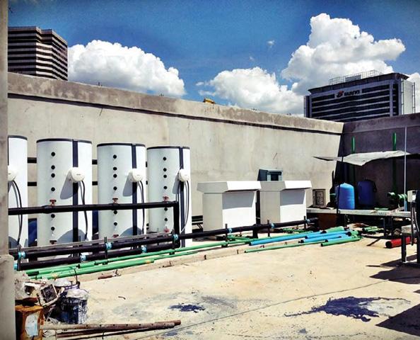 ระบบฮีทปั๊ม รุ่น WPL 23E ความจุน้ำที่ 6,000 ลิตร ณ อาคารเรสซิเดนซ์ ฤทธิ์ กรุงเทพ ฯ