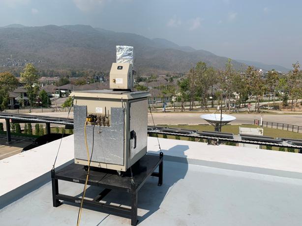 อุปกรณ์ LiDAR ติดตั้งตรวจวัด ณ อุทยานดาราศาสตร์สิรินธร จ.เชียงใหม่
