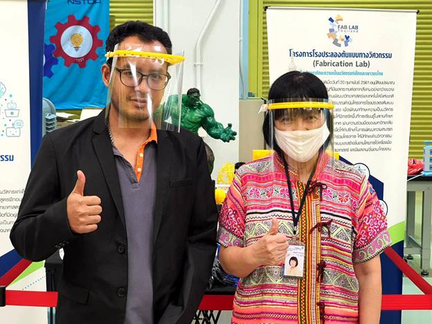 ดร.อ้อมใจ ไทรเมฆ (ขวา)ผู้ช่วยผู้อำนวยการ สำนักงานพัฒนาวิทยาศาสตร์และเทคโนโลยีแห่งชาติ (สวทช.)
