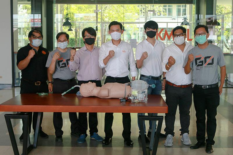 ศูนย์รวมนวัตกรรม KMITL GO FIGHT COVID-19 เตรียมส่งมอบเครื่องช่วยหายใจ GO Life Ventilator
