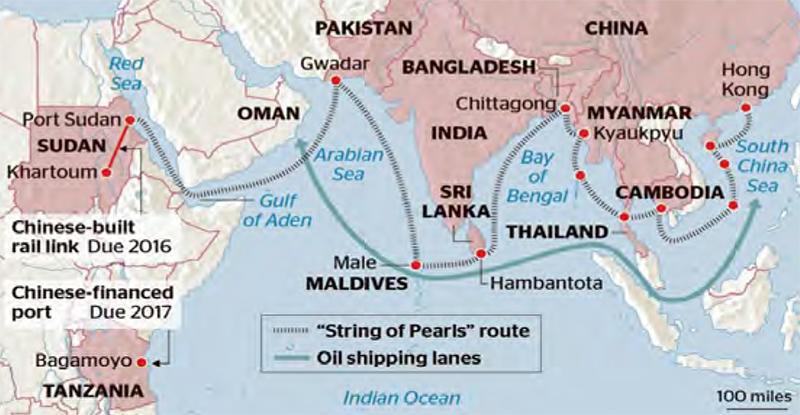 แสดงเส้นทางที่แท้จริงของโครงการ One Belt One Road (Land-Sea)