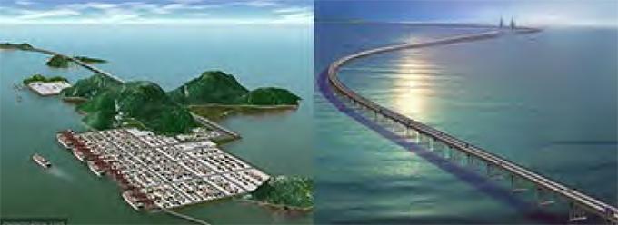 สะพาน Donghai Bridge 36 กิโลเมตร เชื่อมเกาะยางชางกับเมืองเซี่ยงไฮ