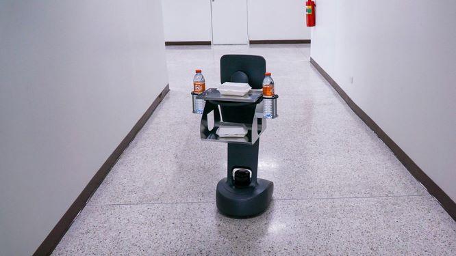 Service Robot หุ่นยนต์บริการเฉพาะจุด เคลื่อนที่ได้อัตโนมัติ