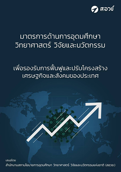 สอวช. คลอดรายงานการศึกษาวิจัยด้านการอุดมศึกษา วิทยาศาสตร์ วิจัยและนวัตกรรม พร้อมนำผลศึกษาต่อยอดปรับแผน รองรับการโลกหลัง COVID-19