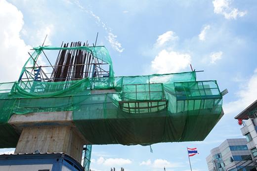 โครงสร้างคานคอนกรีต รถไฟฟ้าสายสีชมพู