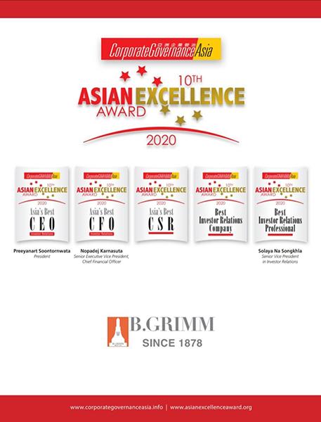 BGRIM คว้า 5 รางวัลระดับเอเชีย The Asian Excellence Awards 2020