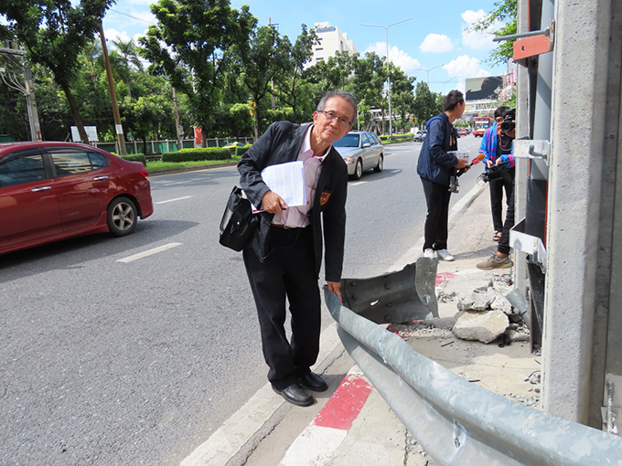 อุบัติเหตุบริเวณโค้งถนนรัชดา