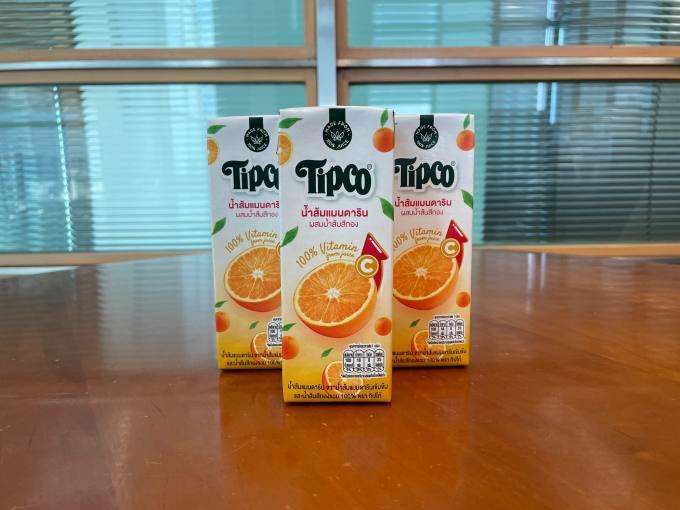 น้ำส้มแมนดารินผสมน้ำส้มสีทอง Jumbo Size 225 มิลลิลิตร