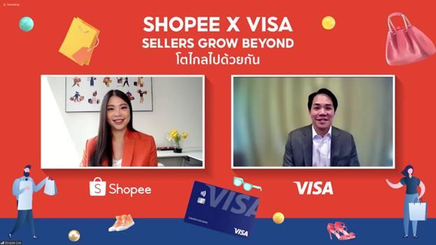 ช้อปปี้ ผนึก วีซ่า เปิดตัวโครงการ 'Shopee x Visa: Sellers Grow Beyond' โตไกลไปด้วยกัน หนุน SMEs ไทยเติบโตบนโลกดิจิทัล รับสังคมไร้เงินสด